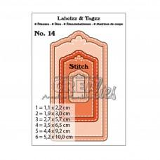Crea-Nest-Lies XXL Labels & Tags Dies no.14 With Stitchline