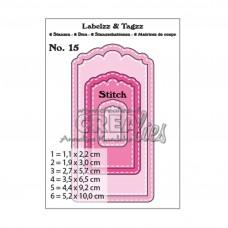 Crea-Nest-Lies XXL Labels & Tags Dies no.15 With Stitchline