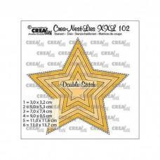 Crea-Nest-Lies XXL Dies no.102 - Star with double stitchline