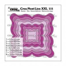 Crea-Nest-Lies XXL Dies no.111 - Fantasy shape E with stitchline