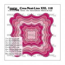 Crea-Nest-Lies XXL Dies no.112 - Fantasy shape F with stitchline