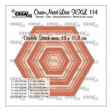 Crea-Nest-Lies XXL Dies no.114 - Hexagons with double stitch