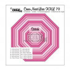 Crea-Nest-Lies XXL Dies no. 79 - Octagon with Stitchlines