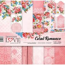 Set of papers - Coral Romance - 30,5 x 30,5 cm - Laserowe LOVE