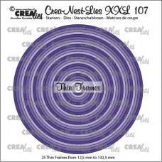 Crea-Nest-Lies XXL Dies no.107 - Thin Frames - Circles