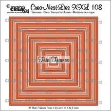 Crea-Nest-Lies XXL Dies no.108 - Thin Frames - Squares
