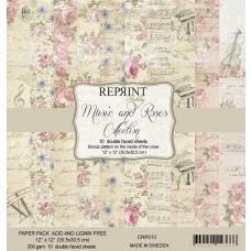Reprint - Music & Roses - 12x12 Inch Paper Pack