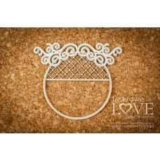 Round window frame - Vintage Ornaments - Laserowe LOVE