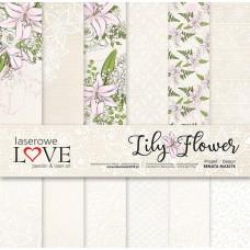 Set of papers - Lily Flower - 30,5 x 30,5 cm - Laserowe LOVE
