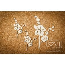 Orchid 3 pieces - Happy Easter - Laserowe LOVE