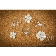 Individual hibiscus flowers - Vintage Tropical Island - Laserowe LOVE