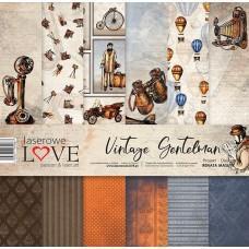 Set of papers - Vintage Gentleman - 30,5 x 30,5 cm - Laserowe LOVE