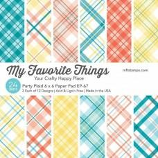 Party Plaid - 6x6 Inch Paper Pad - My Favorite Things