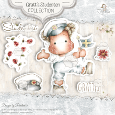 Grattis Studenten Art Stamp Sheet - Magnolia