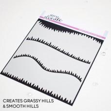 Green Fields Stencil - Heffy Doodle