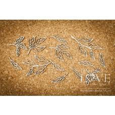 Peony leaves - Coral, Navy Romance - Laserowe LOVE