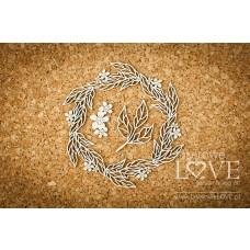 Leaf wreath - Coral, Navy Romance - Laserowe LOVE