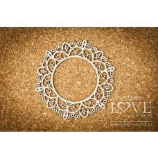 Round lace frame 4 - Coral, Navy Romance - Laserowe LOVE