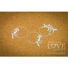 Oval frames with ornaments - Holy & White - Laserowe LOVE