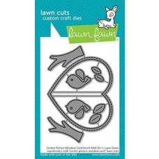 Lawn Cuts - Center Picture Window Card Heart Add-On - Lawn Fawn