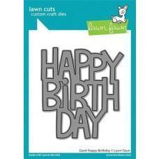Lawn Cuts - Giant Happy Birthday - Lawn Fawn