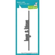 Lawn Cuts - Hugs and Kisses Line Border - Lawn Fawn
