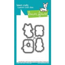 Lawn Cuts - Say What? Masked Critters - Lawn Fawn