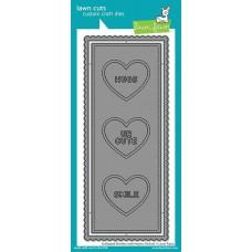 Lawn Cuts - Scalloped Slimline with Hearts: Portrait - Lawn Fawn