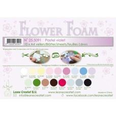 Leane Creatief - Flower Foam A4 - Pastel Violet
