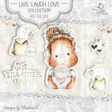 Best Tea-Cher Ever Art Stamp Kit - Magnolia