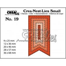 Crea-Nest-Lies Small Dies no.19 - Fishtail Banner with Stitch