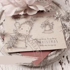 Christmas Bells Rubber Stamp Sheet - Magnolia