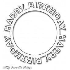 Happy Birthday Circle Frame Die-namics - My Favorite Things