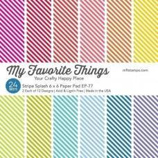 Stripe Splash - 6x6 Inch Paper Pad - My Favorite Things