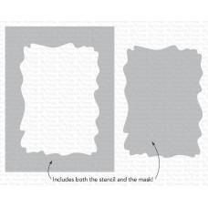 Watercolor Wash Rectangle Stencil - My Favorite Things