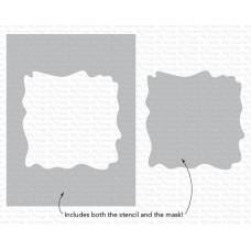 Watercolor Wash Square Stencil - My Favorite Things