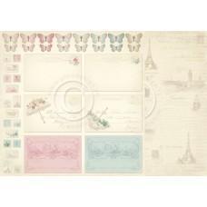 Paper - Postcards 12x12 – Paris Flea Market
