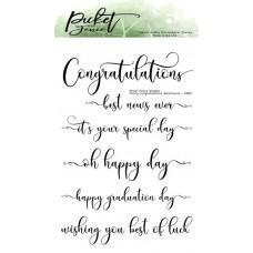 Fancy Congratulations Sentiments - Picket Fence Studios