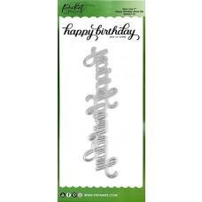 Slim Line Happy Birthday Word Die - Picket Fence Studios