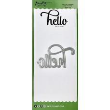 Slim Line Oversized Hello Word Die - Picket Fence Studios