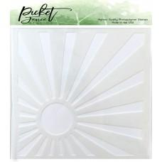 Sunburst Stencil - Picket Fence Studios