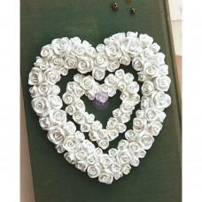 Memory Hardware Blanc Fleur Coeur Resin Frame - Prima Marketing