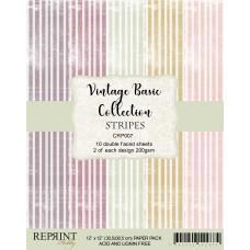 Reprint - Stripes Basic - 12x12 Inch Paper Pack