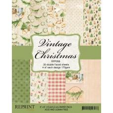 Reprint - Vintage Christmas - 6x6 Inch Paper Pack