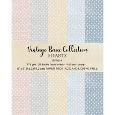 Reprint - Hearts Basic - 6x6 Inch Collection Pack