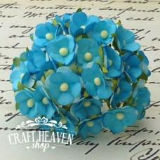 2-Tone Turquoise Sweetheart Blossoms - 15mm