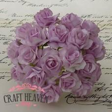 Lilac Mulberry Paper Wild Roses - 30mm