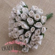 White Mulberry Paper Rosebuds - 8mm