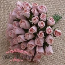 Pale Pink Mulberry Paper Rosebuds - 8mm