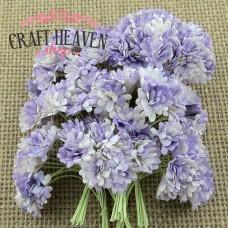 2-Tone Lilac Mulberry Paper Gypsophila Flowers - 10mm